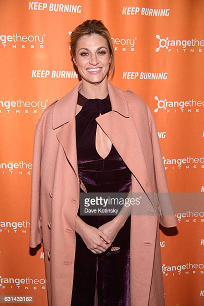 Erin Andrews arrives at the Orangetheory Fitness VIP Grand Opening Party at Orangetheory Fitness Astor Place on January 10 2017 in New York City