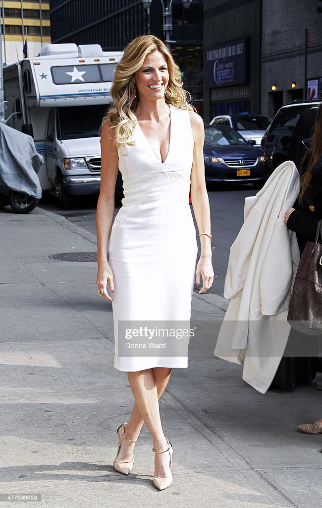 <a gi-track='captionPersonalityLinkClicked' href=/galleries/search?phrase=Erin+Andrews&family=editorial&specificpeople=834273 ng-click='$event.stopPropagation()'>Erin Andrews</a> arrives for the 'Late Show with David Letterman' at Ed Sullivan Theater on March 10, 2014 in New York City.
