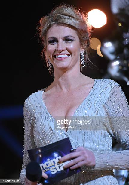 Erin Andrews attends ABC's 'Dancing With The Stars' Season Finale hosted by The Grove at The Grove on November 24 2015 in Los Angeles California
