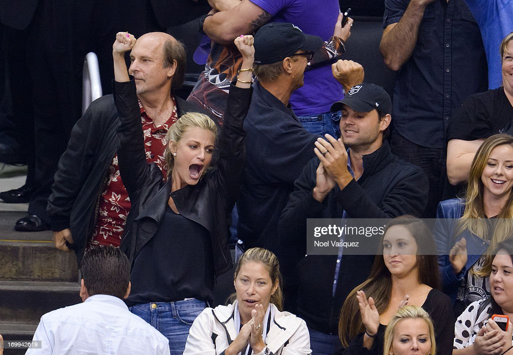 Erin Andrews attends an NHL playoff game between the Chicago Blackhawks and the Los Angeles Kings at Staples Center on June 4, 2013 in Los Angeles, California.