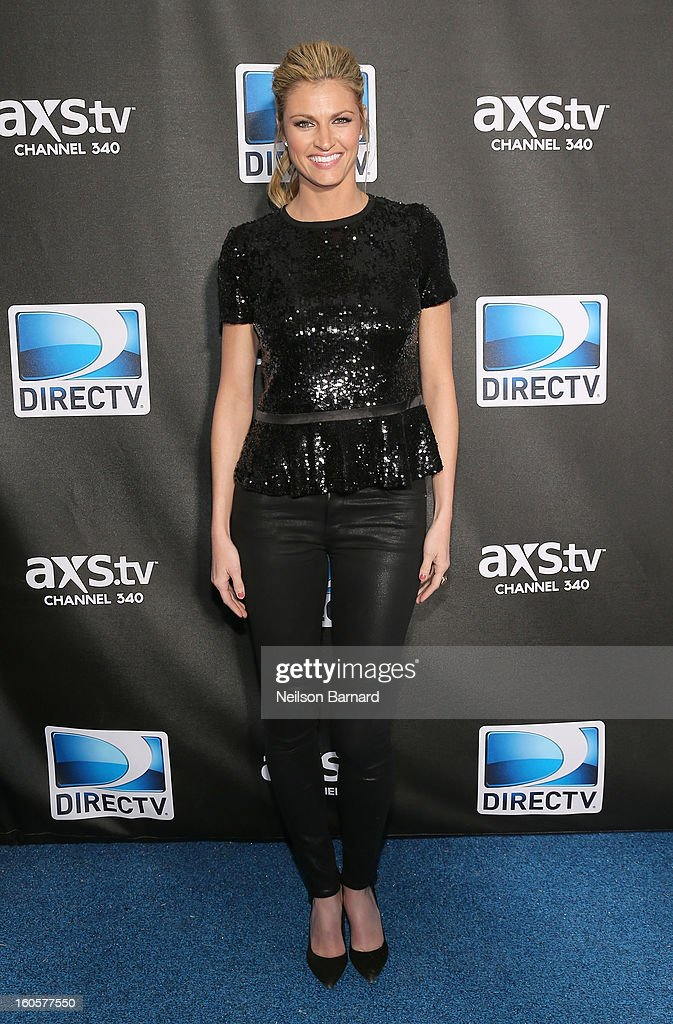 Erin Andrews attends DIRECTV Super Saturday Night Featuring Special Guest Justin Timberlake & Co-Hosted By Mark Cuban's AXS TV on February 2, 2013 in New Orleans, Louisiana.
