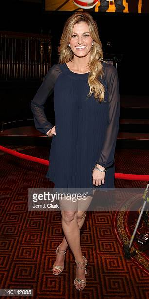 Erin Andrews attends the 2012 New York Rangers Casino Night at Gotham Hall on February 28 2012 in New York City