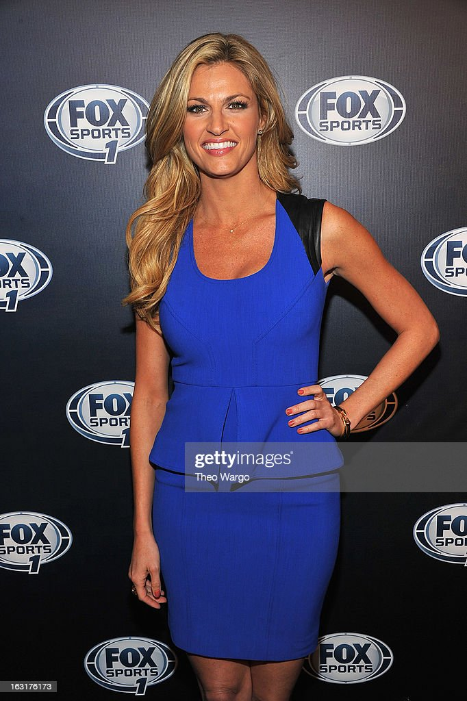 Erin Andrews attends the 2013 Fox Sports Media Group Upfront after party at Roseland Ballroom on March 5, 2013 in New York City.