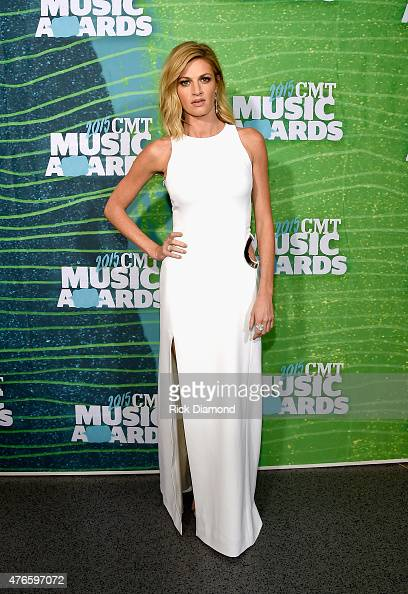 Erin Andrews attends the 2015 CMT Music awards at the Bridgestone Arena on June 10 2015 in Nashville Tennessee