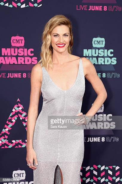 Erin Andrews attends the 2016 CMT Music awards at the Bridgestone Arena on June 8 2016 in Nashville Tennessee