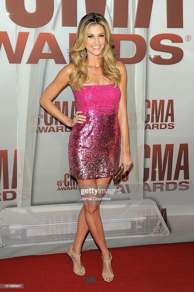 <a gi-track='captionPersonalityLinkClicked' href=/galleries/search?phrase=Erin+Andrews&family=editorial&specificpeople=834273 ng-click='$event.stopPropagation()'>Erin Andrews</a> attends the 45th annual CMA Awards at the Bridgestone Arena on November 9, 2011 in Nashville, Tennessee.