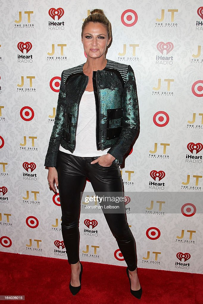 Erin Andrews attends the Target Presents The iHeartRadio '20/20' Album Release Party With Justin Timberlake at El Rey Theatre on March 18, 2013 in Los Angeles, California.
