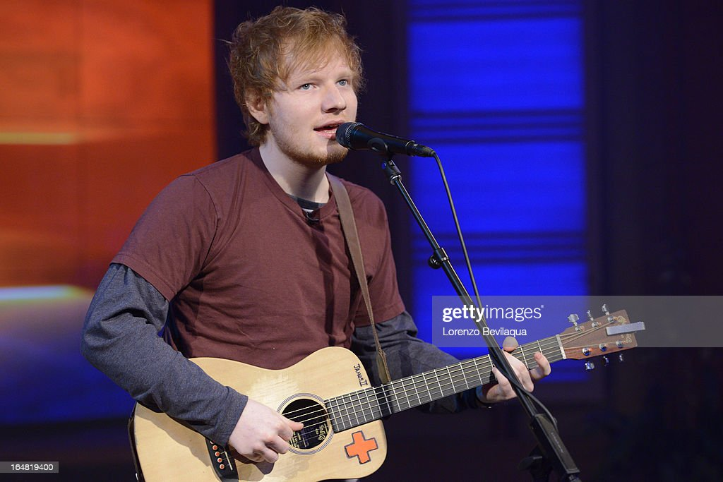 MICHAEL -3/29/13 - Erin Andrews co-hosts and Ed Sheeran is a guest on 'LIVE with Kelly and Michael,' distributed by Disney-ABC Domestic Television. ED