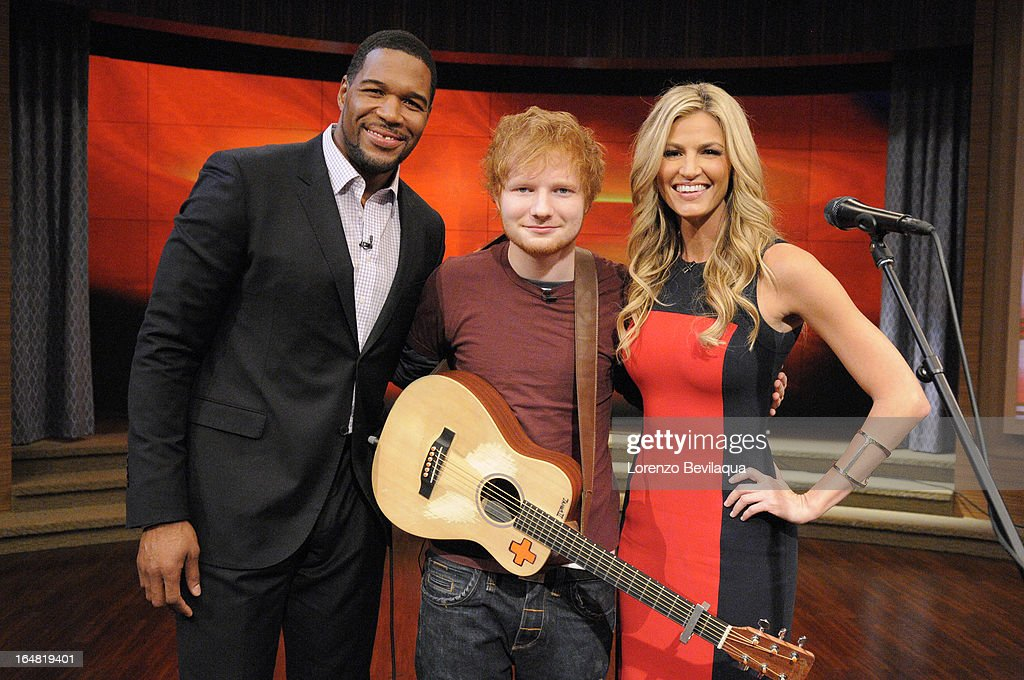 MICHAEL -3/29/13 - Erin Andrews co-hosts and Ed Sheeran is a guest on 'LIVE with Kelly and Michael,' distributed by Disney-ABC Domestic Television. ANDREWS