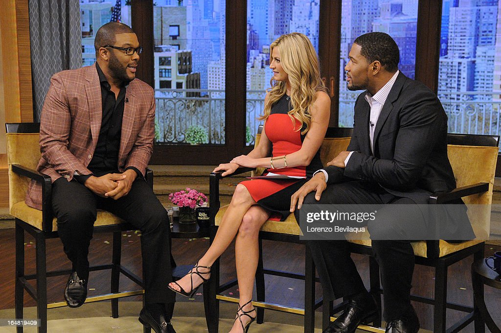 MICHAEL -3/29/13 - Erin Andrews co-hosts and Tyler Perry is a guest on 'LIVE with Kelly and Michael,' distributed by Disney-ABC Domestic Television. TYLER