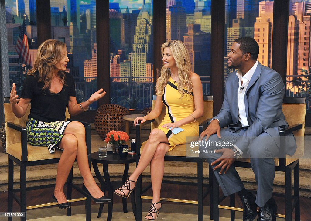 MICHAEL -6/28/13 - Erin Andrews is Michael's co-host and Allison Janney is a guest on 'LIVE with Kelly and Michael,' distributed by Disney-ABC Domestic Television. STRAHAN
