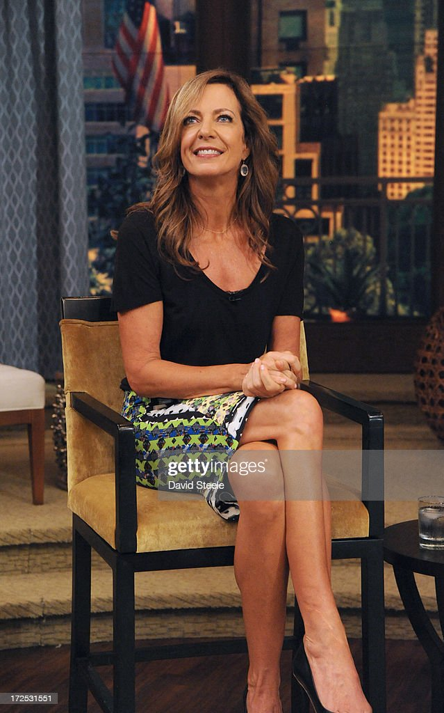 MICHAEL -6/28/13 - Erin Andrews is Michael's co-host and Allison Janney is a guest on 'LIVE with Kelly and Michael,' distributed by Disney-ABC Domestic Television. (Photo by David Steele/Disney-ABC via Getty Images) ALLISON