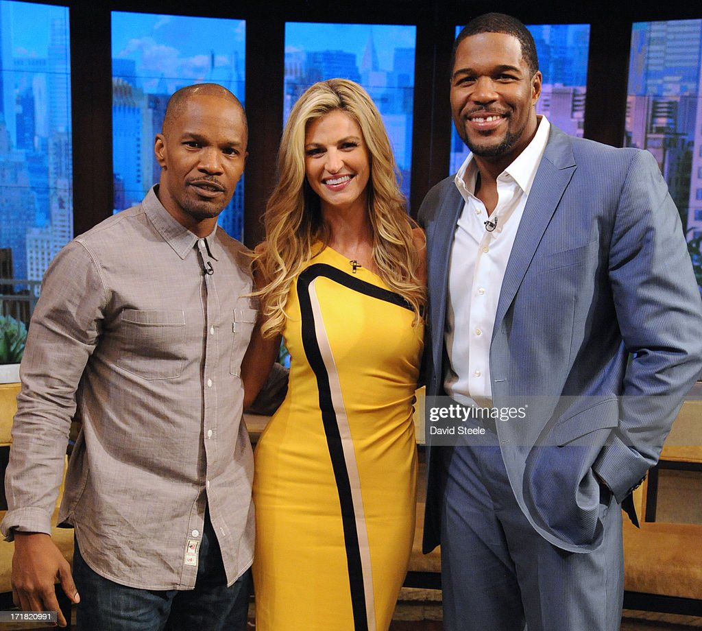 MICHAEL -6/28/13 - Erin Andrews is Michael's co-host and Jamie Foxx stops by on 'LIVE with Kelly and Michael,' distributed by Disney-ABC Domestic Television. JAMIE