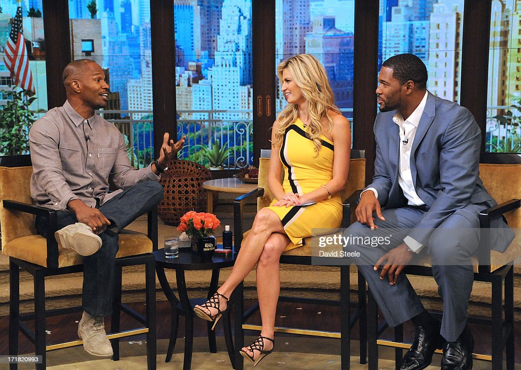 MICHAEL -6/28/13 - Erin Andrews is Michael's co-host and Jamie Foxx stops by on 'LIVE with Kelly and Michael,' distributed by Disney-ABC Domestic Television. STRAHAN