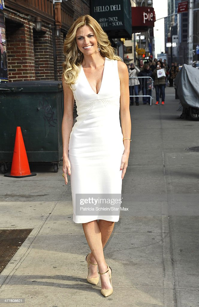 Erin Andrews is seen on March 10, 2014 in New York City.