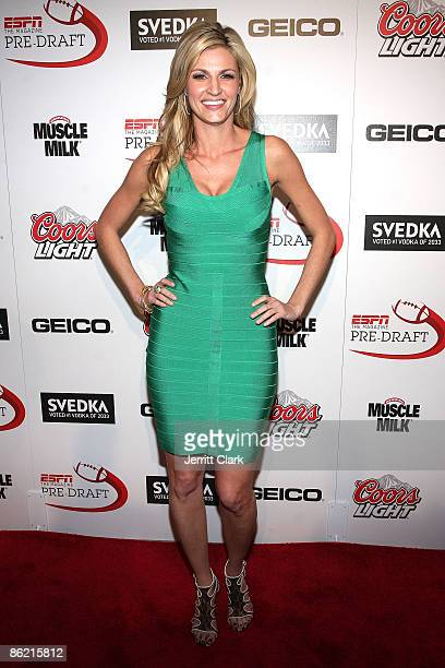 Erin Andrews of ESPN attends the ESPN the Magazine's 6th Annual PreDraft party at Espace on April 24 2009 in New York City