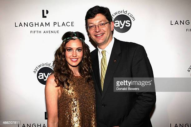 Erin Brady and Francois Luiggi attend Langham Place Fifth Avenue Kicks Off Super Bowl Weekend In New York With 'Party With The Pros' at Measure...