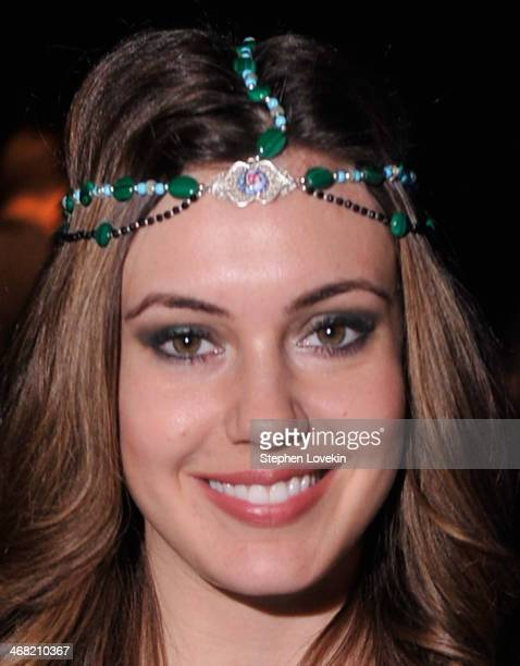 Erin Brady attends the Meskita fashion show during MercedesBenz Fashion Week Fall 2014 at The Salon at Lincoln Center on February 9 2014 in New York...