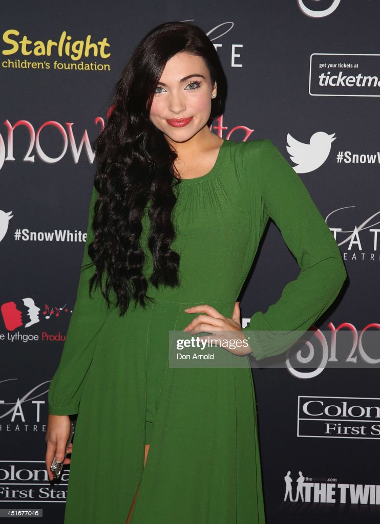 Erin Claire attends the media call for Snow White Winter Family Musical at the State Theatre on July 4, 2014 in Sydney, Australia.