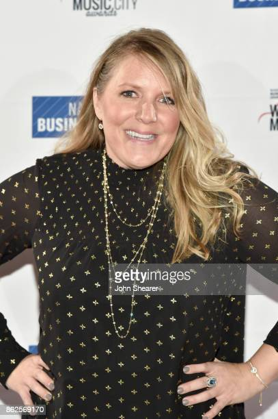 Erin Crawford of Nielsen Music arrives at the 2017 Nashville Business Journal Women In Music City on October 17 2017 in Nashville Tennessee