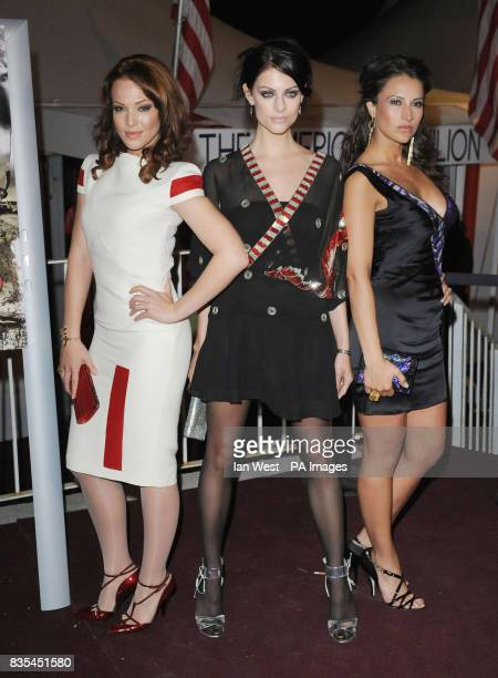 Erin Cummings Julia Voss and America Olivo the stars of new film Bitch Slap are seen attending a photocall at the American Pavilion during the 62nd...