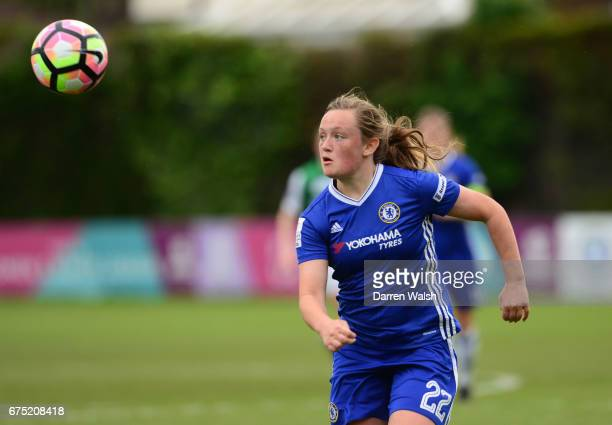 Erin Cuthbert of Chelsea during the FA WSL 1 match between Chelsea Ladies and Yeovil Town Ladies at Wheatsheaf Park on April 30 2017 in Staines...