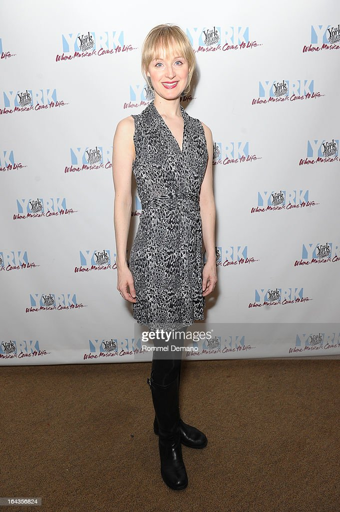 Erin Davie attends the off-Broadway opening night of 'Silk Stockings' at The York Theatre at Saint Peter's on March 22, 2013 in New York City.
