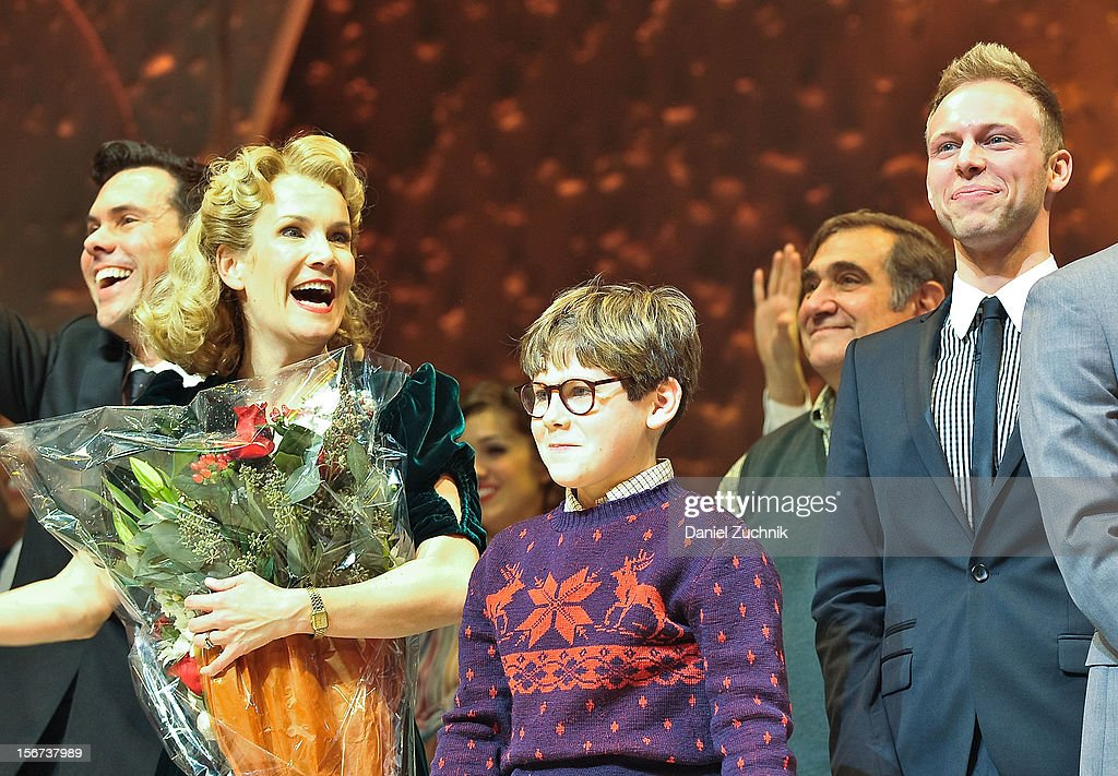 Erin Dilly and Johnny Rabe perform during 'A Christmas Story: The Musical' broadway opening at Lunt-Fontanne Theatre on November 19, 2012 in New York City.