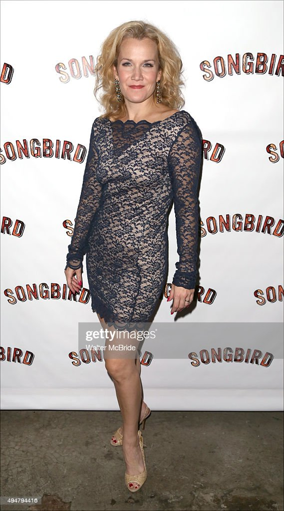 Erin Dilly attends the Opening Night after party for the OffBroadway musical 'Songbird' at Johnny Utah's on October 28 2015 in New York City