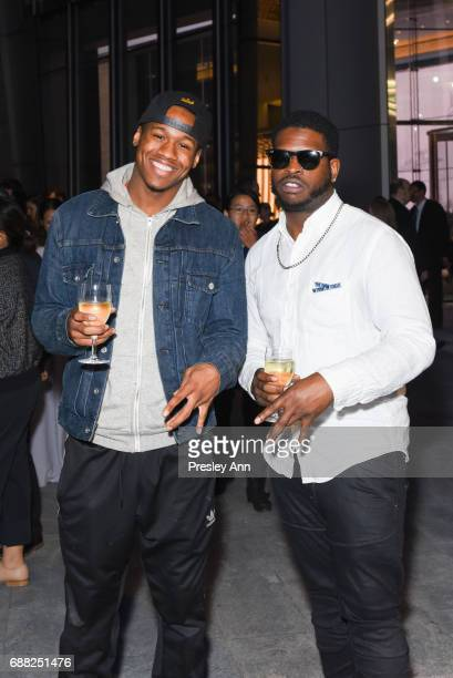 Erin Doc Fraser and Dre attend The Shed First Reveal VIP Cocktail Party at The Shed on May 24 2017 in New York City