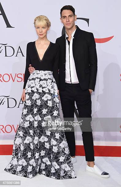 Erin Fetherston and Gabe Saporta attend the 2015 CFDA Fashion Awards at Alice Tully Hall at Lincoln Center on June 1 2015 in New York City