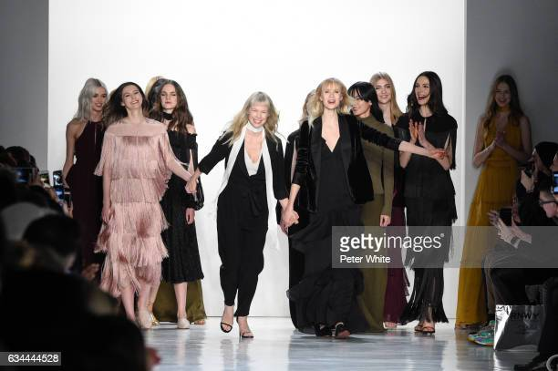Erin Fetherston and models walk the runway after Erin Fetherston show during New York Fashion Week Gallery 3 Skylight Clarkson Sq on February 9 2017...