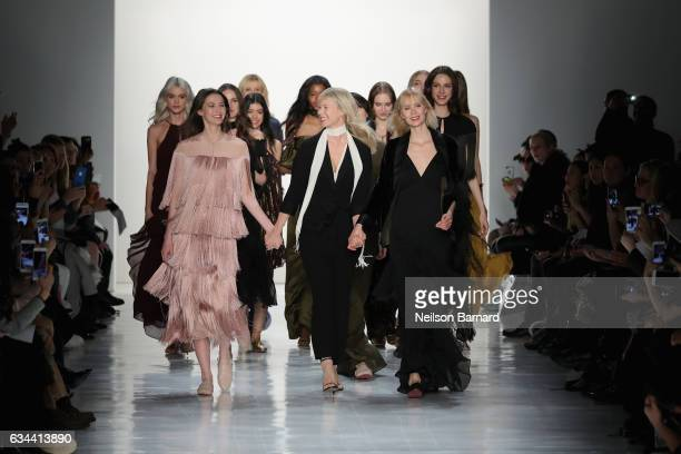 Erin Fetherston and models walk the runway at Erin Fetherston fashion show during New York Fashion Week The Shows at Gallery 3 Skylight Clarkson Sq...