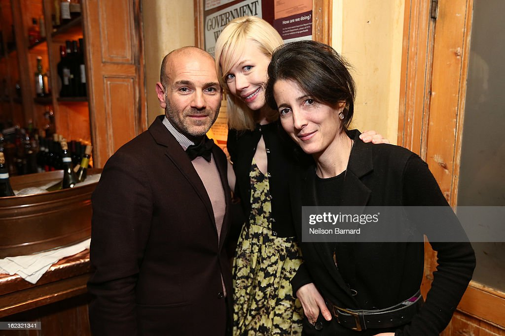 Erin Fetherston (C) attends the GQ 'After Visiting Friends' book party on February 21, 2013 in New York City.