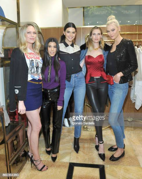 Erin Foster Kourtney Kardashian Kendall Jenner Sara Foster and Karlie Kloss at What Goes Around Comes Around Beverly Hills Anniversary on October 11...
