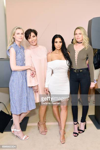 Erin Foster Kris Jenner Kim Kardashian West and Sara Foster celebrate The Launch Of KKW Beauty on June 20 2017 in Los Angeles California