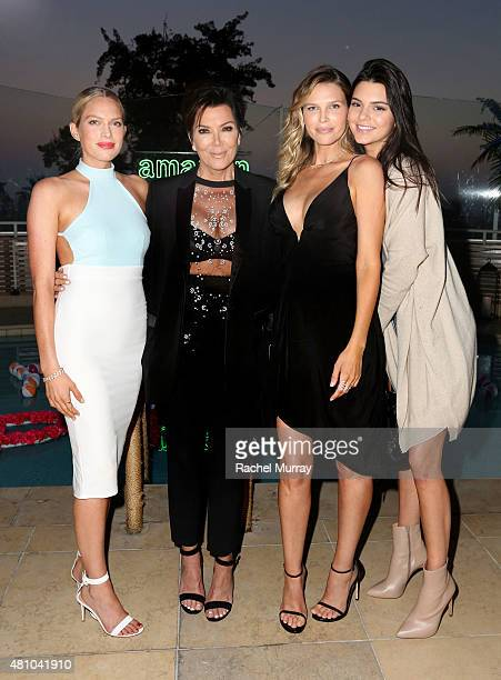 Erin Foster Kris Jenner Sara Foster and Kendall Jenner attend Amazon Prime Summer Soiree hosted by Erin Foster and Sara Foster at Sunset Towers on...