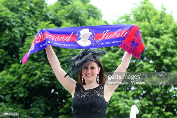 Erin Gibbons from the USA during Investec Derby Day of the Investec Derby Festival at Epsom Racecourse