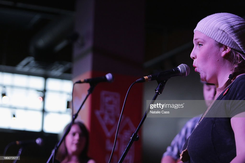 Erin Haley of Bullets and Belles performs onstage at the ASCAP Music Cafe Day 8 during the 2013 Sundance Film Festival at Sundance ASCAP Music Cafe on January 25, 2013 in Park City, Utah.