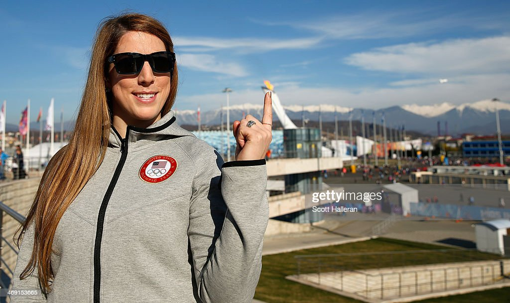 Erin Hamlin of the USA Luge team poses in the Olympic Park during the Sochi 2014 Winter Olympics on February 12, 2014 in Sochi, Russia.