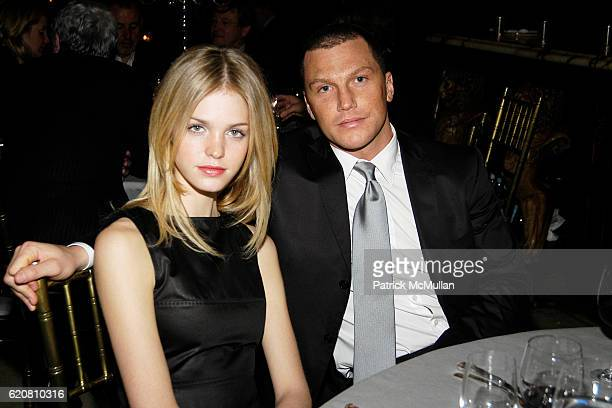 Erin Heatherton and Sean Avery attend Private Dinner with ERMENEGILDO ZEGNA The Robin Hood Foundation at University Club on March 11 2008 in New York...