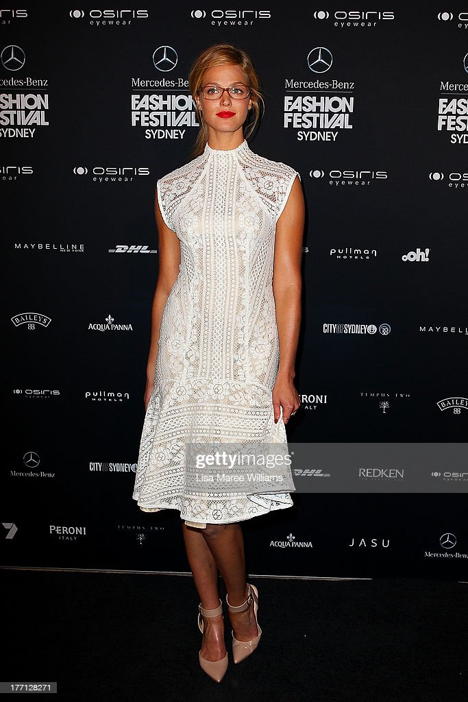 <a gi-track='captionPersonalityLinkClicked' href=/galleries/search?phrase=Erin+Heatherton&family=editorial&specificpeople=5003810 ng-click='$event.stopPropagation()'>Erin Heatherton</a> arrives at the MBFWA Trends show during Mercedes-Benz Fashion Festival Sydney 2013 at Sydney Town Hall on August 21, 2013 in Sydney, Australia.
