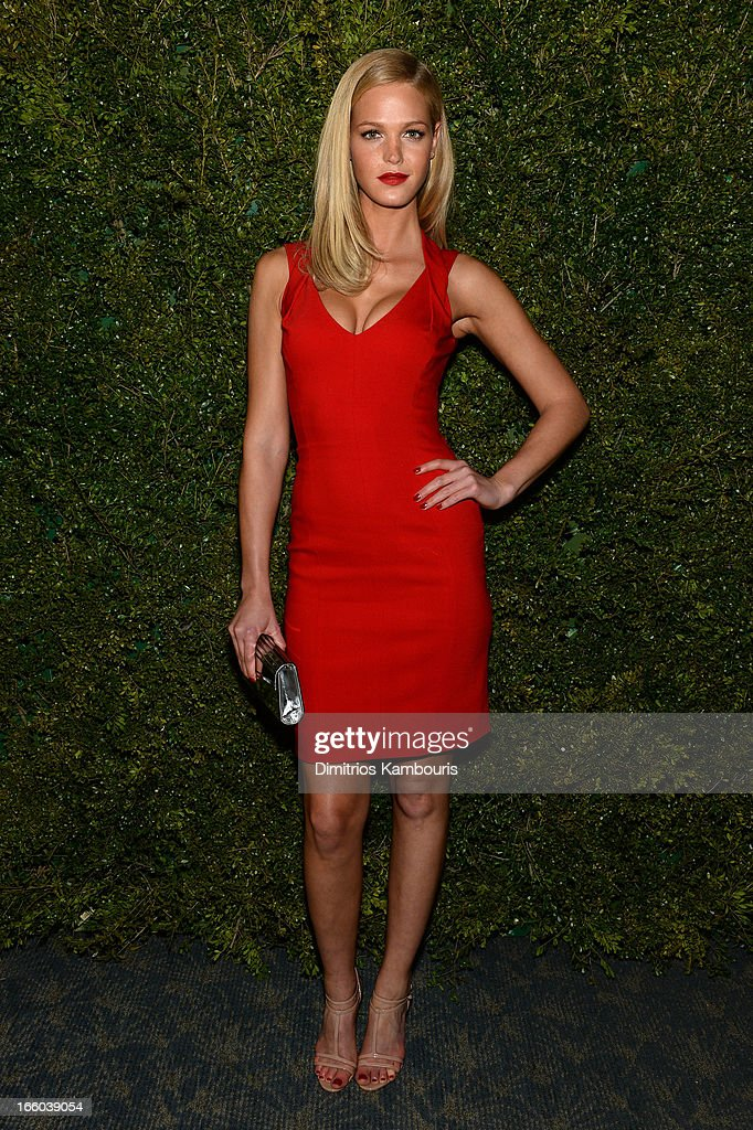 Erin Heatherton attends a dinner in honor of Halle Berry as she joins Michael Kors and the United Nations World Food Programme to help fight world hunger. The event was held at The Pool Room at the Four Seasons on April 6, 2013 in New York City.