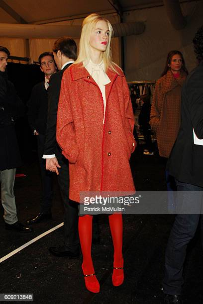 Erin Heatherton attends CHARLES NOLAN Fall 2007 Collection at The Promenade on February 9 2007 in New York City