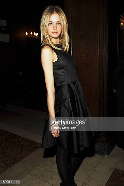 Erin Heatherton attends Private Dinner with ERMENEGILDO ZEGNA The Robin Hood Foundation at University Club on March 11 2008 in New York City