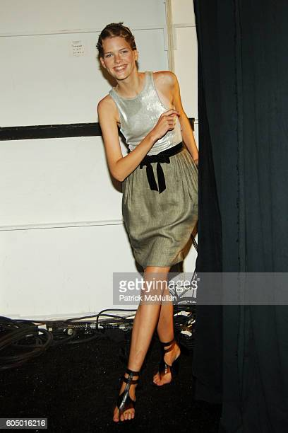 Erin Heatherton attends SASS BIDE Spring 2007 Fashion Show at The Promenade at Bryant Park on September 9 2006 in New York City