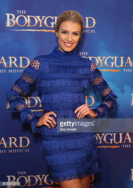 Erin Holland arrives ahead of opening night of The Bodyguard The Musical at Lyric Theatre Star City on April 27 2017 in Sydney Australia