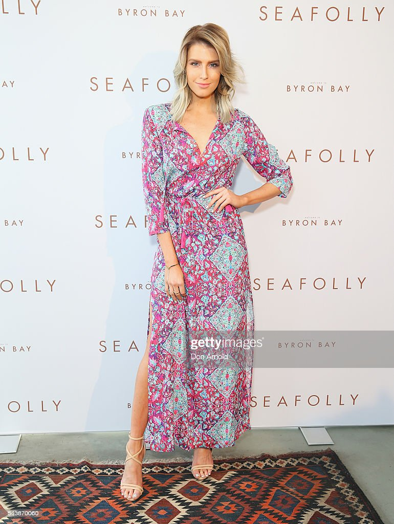<a gi-track='captionPersonalityLinkClicked' href=/galleries/search?phrase=Erin+Holland&family=editorial&specificpeople=11395014 ng-click='$event.stopPropagation()'>Erin Holland</a> arrives ahead of the Seafolly Spring 2016 Campaign Launch on June 30, 2016 in Sydney, Australia.