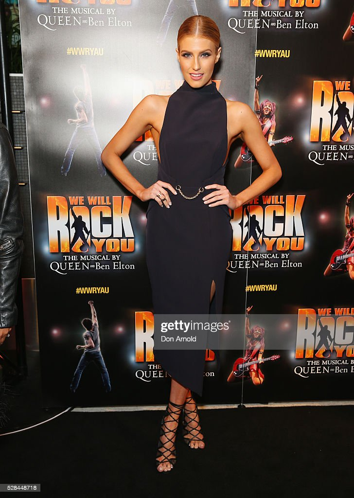 <a gi-track='captionPersonalityLinkClicked' href=/galleries/search?phrase=Erin+Holland&family=editorial&specificpeople=11395014 ng-click='$event.stopPropagation()'>Erin Holland</a> arrives ahead of We Will Rock You Opening Night at Lyric Theatre, Star City on May 5, 2016 in Sydney, Australia.