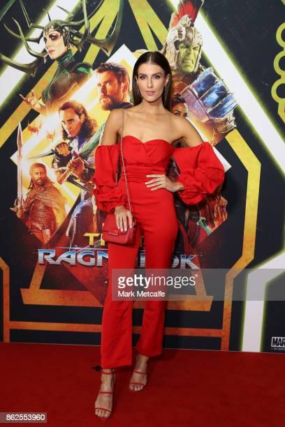 Erin Holland attends the Thor Ragnarok Sydney Screening Event on October 15 2017 in Sydney Australia
